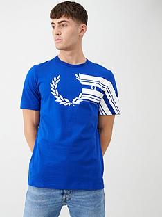 fred-perry-laurel-wreath-graphic-t-shirt-royal-blue