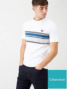 fred-perry-marl-stripe-t-shirt-white