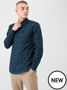 fred-perry-button-through-tartan-shirt