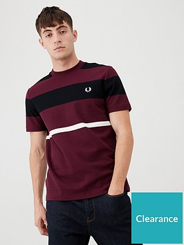 fred-perry-bold-striped-t-shirt-burgundy