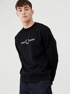 fred-perry-graphic-sweatshirt-black