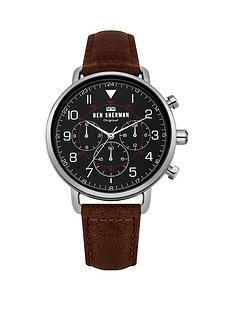 ben-sherman-ben-sherman-portobello-military-brown-leather-strap-watch-with-matte-black-dial