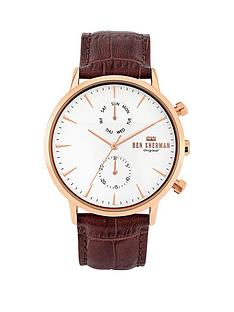 ben-sherman-ben-sherman-brown-croc-leather-strap-with-off-white-dial