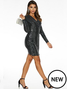 quiz-sam-faiers-sequin-long-sleeve-blazer-dress-silver-black