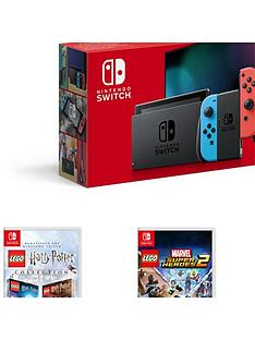 nintendo-switch-nintendo-switch-console-improved-battery-with-lego-harry-potter-collection-lego-marvel-superheroes-2-and-lego-worlds