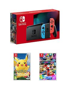nintendo-switch-nintendo-switch-neon-console-improved-battery-with-pokemon-lets-go-pikachu-and-mario-kart-8-deluxe
