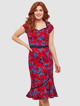 joe-browns-the-bop-floral-dress-rednbsp