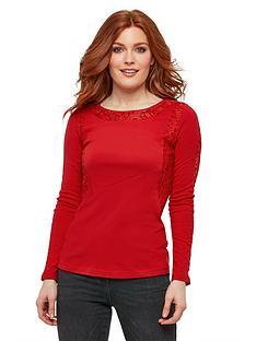 joe-browns-lush-lace-top-red
