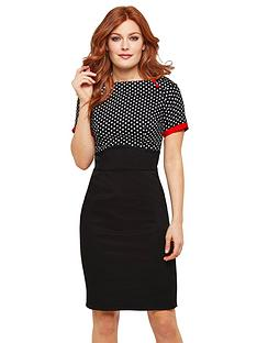 joe-browns-passionate-polka-dot-dress-blackmulti