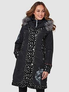 joe-browns-animal-jacquard-parka