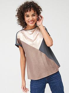 oasis-chevron-colour-block-t-shirt-greymulti