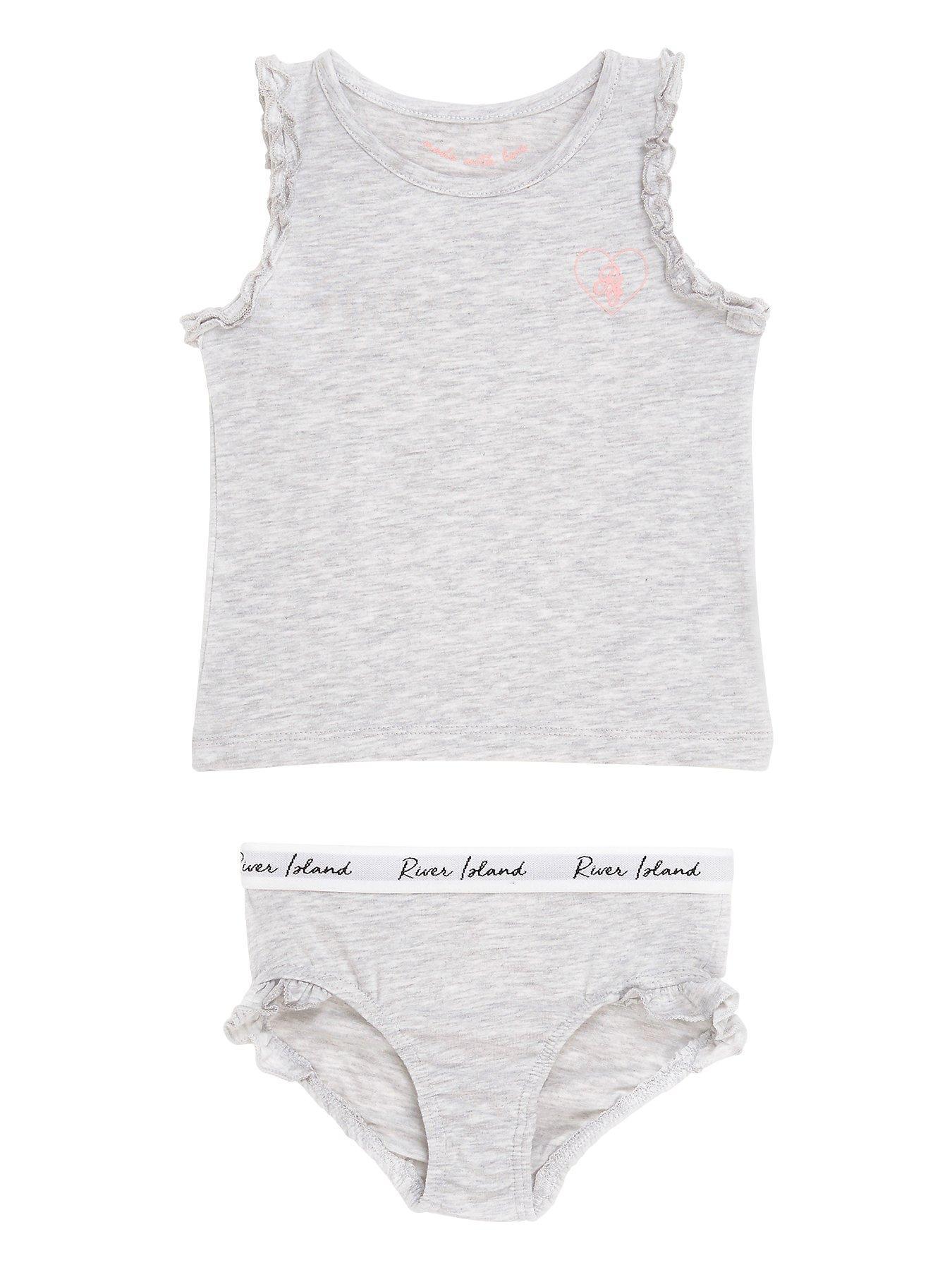 M/&Co Girls 100/% Cotton Sleeveless Round Neck Unicorn Print Vests Three Pack