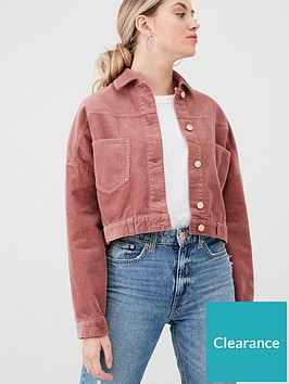 river-island-river-island-cord-cropped-jacket-dark-pink