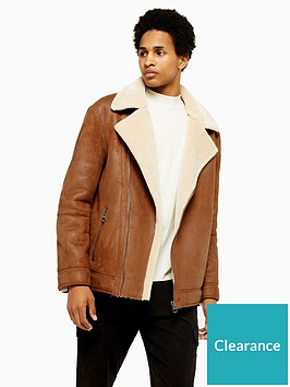 topman-malmo-faux-leather-biker-jacket-tan