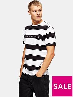 topman-pique-stripe-t-shirt-whiteblack