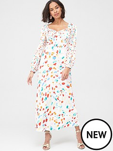 v-by-very-mix-print-satin-jacquard-midi-dress-multi