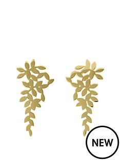 sara-miller-sara-miller-18ct-gold-plated-scattered-leaf-drop-earrings