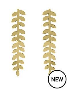 sara-miller-sara-miller-18ct-gold-plated-leaf-stem-drop-earrings