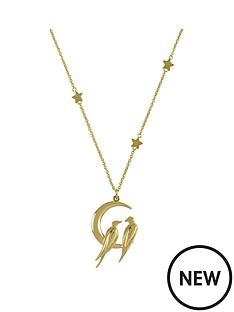 sara-miller-sara-miller-18ct-gold-plated-crescent-moon-love-birds-necklace