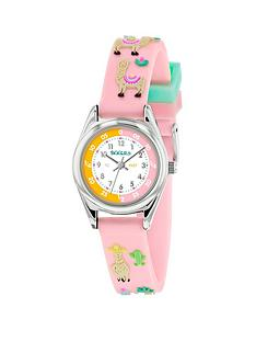 tikkers-tikkers-white-dial-pink-llama-print-strap-kids-watch