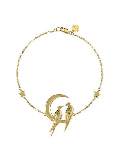 sara-miller-18ct-gold-plated-crescent-moon-love-birds-bracelet