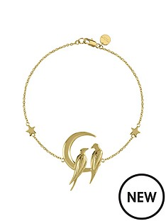 sara-miller-sara-miller-18ct-gold-plated-crescent-moon-love-birds-bracelet