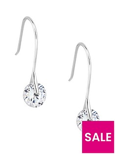 simply-silver-simply-silver-cubic-zirconia-round-brilliant-drop-earring