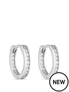 simply-silver-simply-silver-cubic-zirconia-channel-set-hoop-15mm