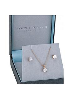 simply-silver-simply-silver-14ct-rose-gold-plated-classic-6mm-round-cubic-zirconia-set