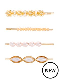 accessorize-accessorize-4-x-flower-bead-and-pearl-clip-set