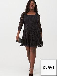 v-by-very-curve-lace-skater-dress-black