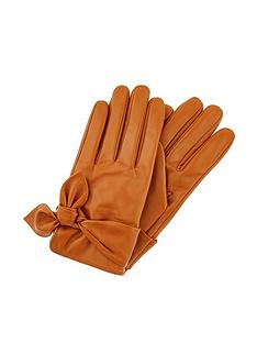 accessorize-knotted-leather-gloves-tan