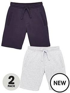 v-by-very-boys-essential-2-pack-jog-shorts-navygrey-marl