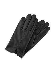 accessorize-basic-leather-glove-black