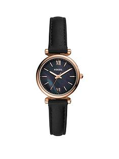fossil-fossil-black-and-rose-gold-dial-black-leather-strap-ladfies-watch