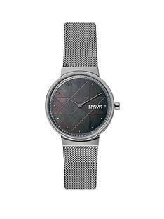 skagen-skagen-grey-dial-grey-ip-stainless-steel-mesh-strap-ladies-watch