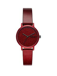 dkny-dkny-red-glitter-dial-and-strap-ladies-watch