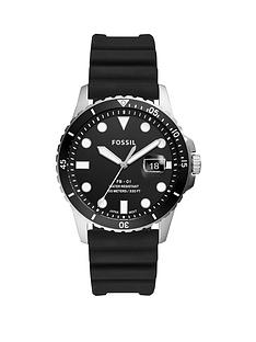 fossil-fossil-black-sunray-date-dial-black-silicone-wave-strap-mens-watch