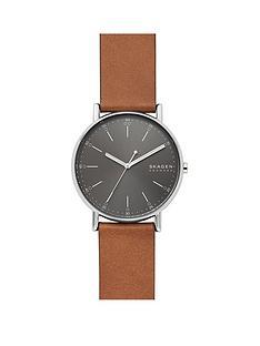 skagen-skagen-grey-sunray-dial-tan-leather-strap-watch