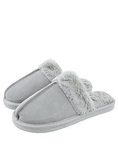 accessorize-real-suede-mule-slipper-grey