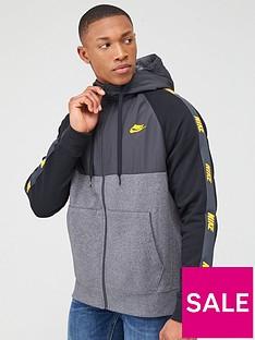 nike-hybrid-taped-full-zip-hoodie-grey