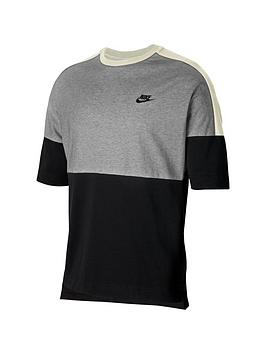 nike-short-sleeve-jersey-top-greywhite