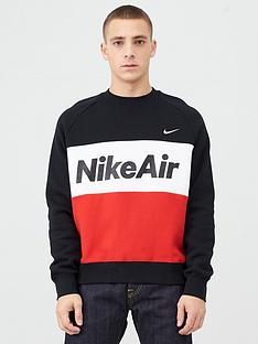 nike-air-fleece-crew-sweatshirt-blackredwhitenbsp