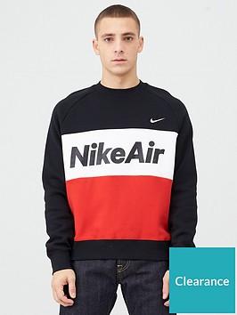 nike-air-fleece-crew-sweatshirt-blackredwhitenbsp