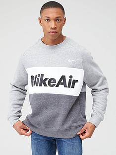 nike-air-fleece-crew-sweat-dark-grey