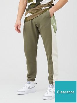 nike-colourblock-fleece-pants-olive
