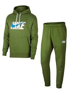 nike-hooded-fleece-graphic-tracksuit-green