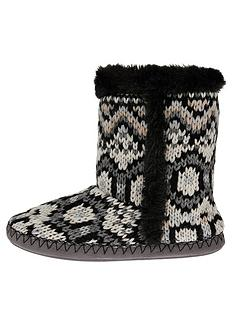 accessorize-fairisle-knitted-boot-slippers-mono