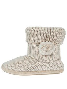 accessorize-chunky-knitted-boot-slippers-cream