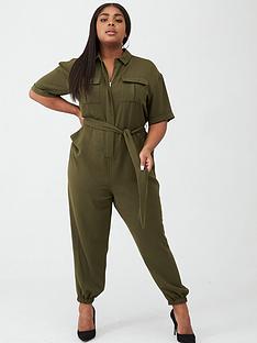 v-by-very-curve-utility-jumpsuit-khaki